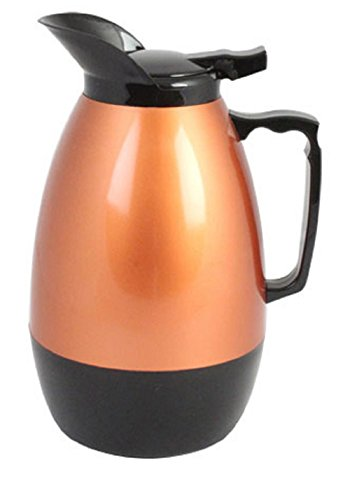 Thunder Group ASCS032G, 32-Ounce Black and Gold Push Button Coffee Server, Hot Drinks Dispenser, Thermal Server (Button Black Push Server)