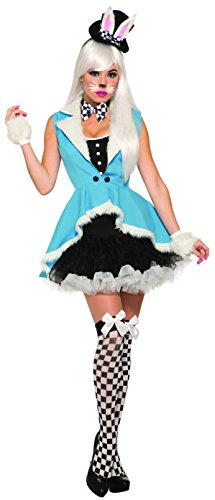 White Rabbit Costume Ladies (Forum Women's White Rabbit Deluxe Costume, Black/Blue, STD)