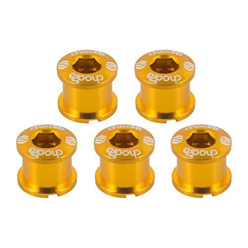 Chainring Nut - Choose 7075 Alloy Double Chainring Bolts/Nuts 5 Set Golden