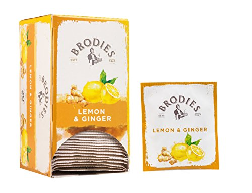 Brodies Tea, Lemon & Ginger, 20-Count Tea Bag 1.41oz