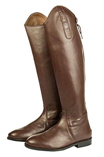 HKM–Botas de equitación Italy Soft Piel Normal/Extra Amplio Marrón - marrón