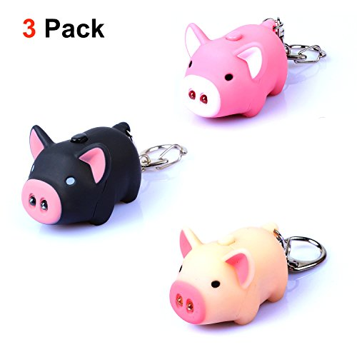 Generic Oink Piggy Light & Sound Keychains 3 Pack