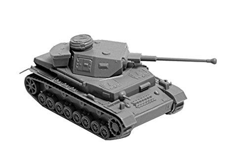 Zvezda Models 1/100 Panzer IV Ausf.F2 Model Kit (Iv Panzer German Tank)