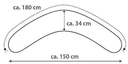 Theraline Das Komfort Stillkissen 180 cm inkl Jerseybezug 42 Grau