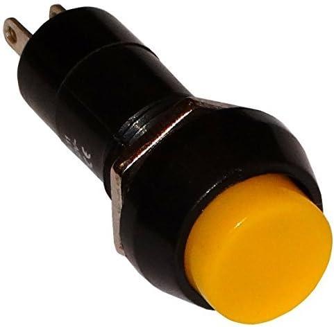 Interrupteur commutateur contacteur bouton jaune SPST-NO 1A//250V 1 position AERZETIX