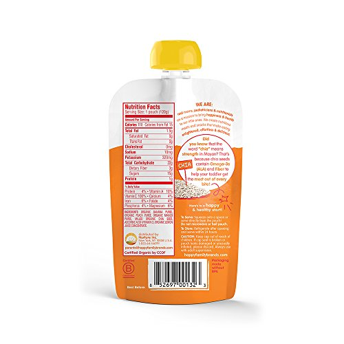Happy Tot, Organic Baby Food, Superfoods, Banana Peach Mango, Stage 4, 4.22oz, pouch by Happy Baby (Image #1)'