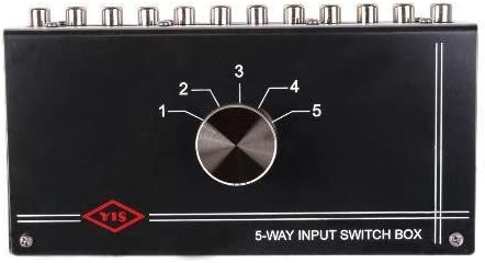 MCM AUDIO SELECT 50-6175 Four Input Source Tabletop Audio Control Switch Box