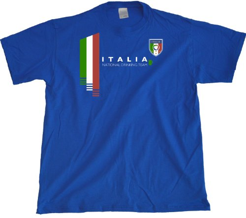 Ann Arbor T-Shirt Co. Men's Italy National Drinking Team T-Shirt