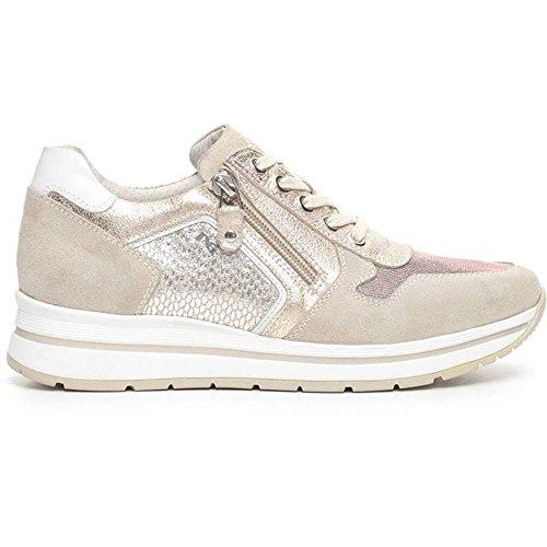 Sneaker Donna Alta in Tela Grigia P717230D 702 - Nero Giardini