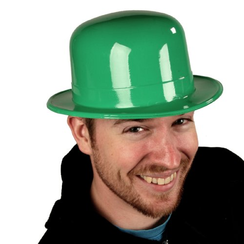 6 Pack Green Plastic Derby Hats - ST Patrick's Day Party (Green Plastic Derby Hat)