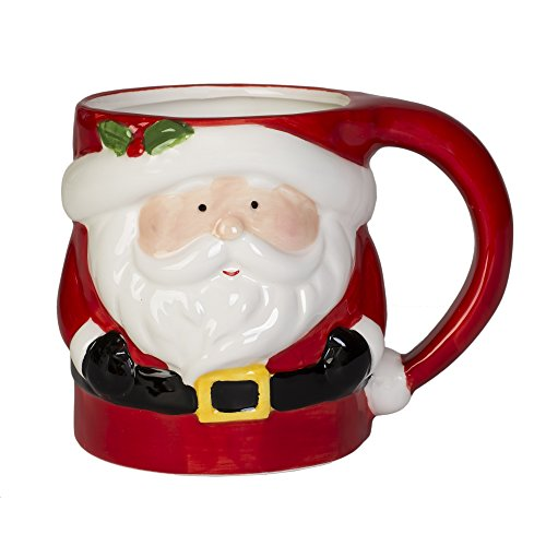 (Santa Claus Holiday Character 12 ounce Ceramic Dolomite Christmas Coffee Mug)