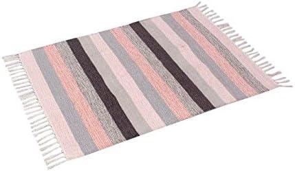 Spura Home 2 X3 Multi Striped Pink Cotton Rug