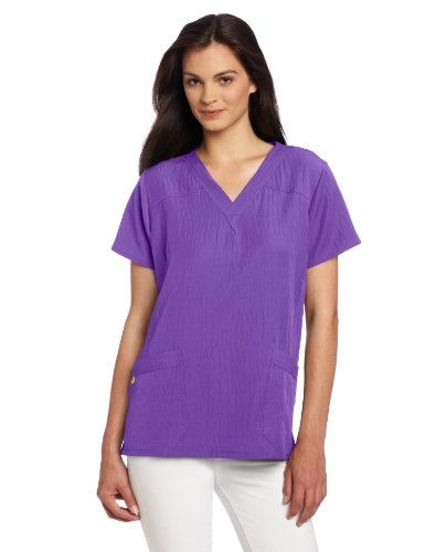WonderWink Women's Scrubs Four Way Stretch Sporty V-Neck Top, Electric Violet, XX-Large ()