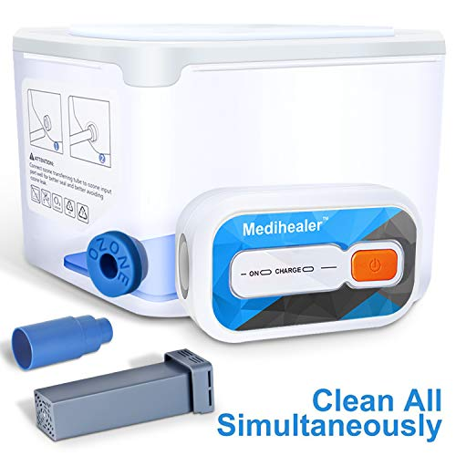 Medihealer CPAP Cleaner and Sanitizer, Cleaner and Sanitizing Machine - Cleanning Standard Hose/Heated Tube, Mask & Machine Simultaneously, Portable Cleaner and Sanitizer Bundle Supplies by Medihealer