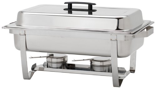 Alegacy AL820A Stainless Steel Economy Full Size Chafing Dish, 24 by 14 by 12-1/4-Inch ()