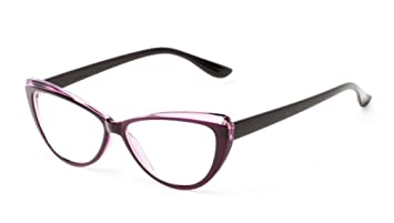 46b654302426 +1.75 Retro Designer Inspired Reading Glasses Ready Readers Purple   Black  Frame Womens 60 s 70 s