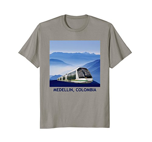Ayacucho Tranvia Tram Blue Mountains Medellin Colombia Shirt from Medellin Colombia Awesome Shirts 2018
