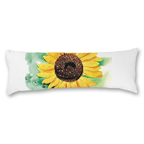 Ojngdafs Pottery Barn Sunflower White Body Pillow Covers Cases With Double Sided 20