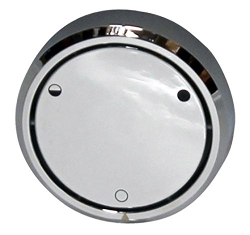Westbrass D493CHM-26 Patented Deep Soak Closing No-Hole Overflow Cover for Full and Partial Overflow Closure, Polished Chrome - Bathtub Overflow Cover