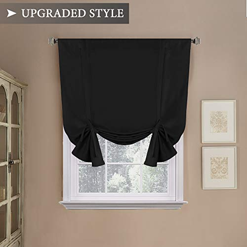 - H.VERSAILTEX Thermal Insulated Adjustable Tie Up Shade/Blackout Curtain with Rod Pocket Top - 42
