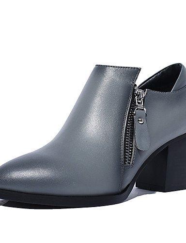 GGX/ Zapatos de mujer-Tacón Robusto-Tacones / Innovador / Talón Descubierto / Gladiador / Estilos / Punta Redonda / Punta Cerrada / Confort- , gray-us8 / eu39 / uk6 / cn39 , gray-us8 / eu39 / uk6 / cn gray-us7.5 / eu38 / uk5.5 / cn38