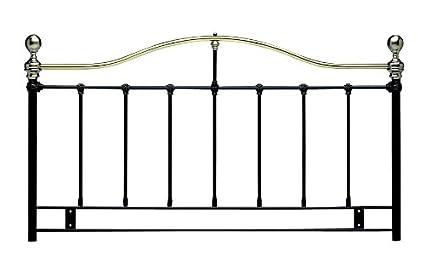 5ft Kingsize Metal Headboard for Bed in Alloy finish