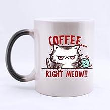 Top coffee right meow Morphing Coffee Mug or Tea Cup,Ceramic Material Mugs - 11oz