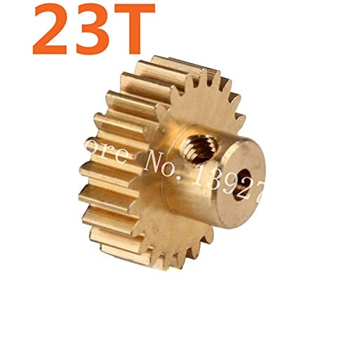 Hockus Accessories Parts 11153 Motor Gear 23T Metal Brass Pinion for 1/10 Electric Model Car Buggy 94107 94170 DESTRIER EP Pro XSTR Hobby