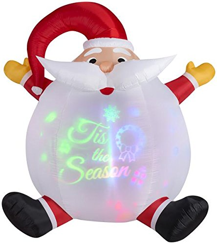 Gemmy 6' Airblown Panoramic Projection Santa Christmas Inflatable - Gemmy 6' Airblown Santa