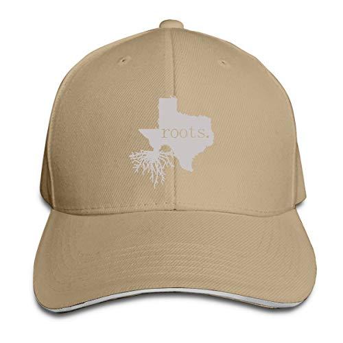 Orukitoki Baseball Caps Home Roots State Texas Cool Sandwich Cap Vintage Trucker Cap Natural
