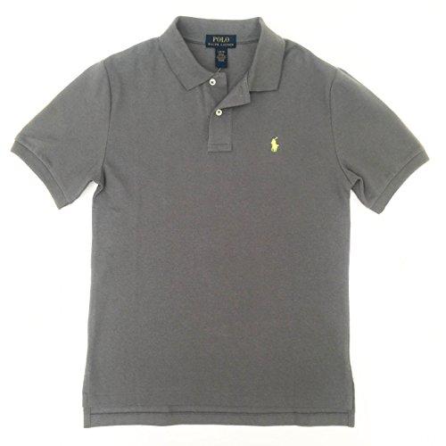 ys Classic Fit Mesh Polo Shirt (Large (14-16), Marine Grey) ()