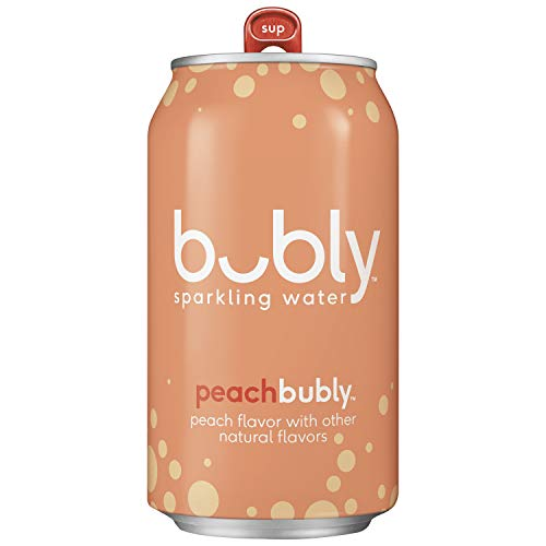 bubly Sparkling Water, Peach, 12oz Cans, 18 Count ()