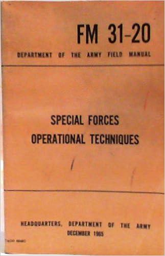 Online books downloads free Special Forces Operational Techniques-1965 (FM 31-20) (Svensk litteratur) PDF iBook PDB