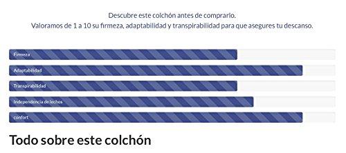 Colchón Muelles Ensacados Master con Viscoelástica de Gel+Carbono: Amazon.es: Hogar