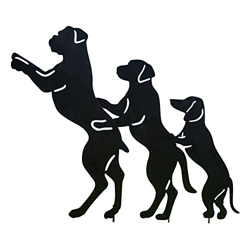 - Collections Etc Conga Line Dog Shadow Silhouettes Funny Novelty Metal Yard Decoration