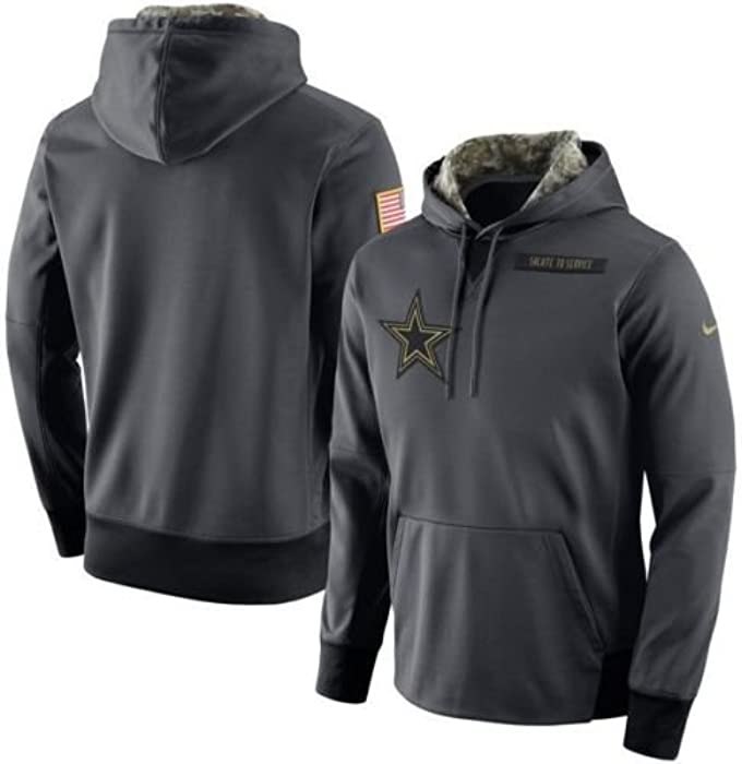 wholesale dealer ba5eb 3bc4a 2016 Dallas Cowboys Salute to Service Hoodie 3XL -Runs a 1/2 Size Small  This Year Anthracite