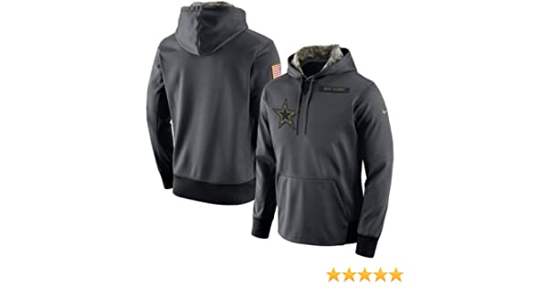 wholesale dealer 81611 ed215 2016 Dallas Cowboys Salute to Service Hoodie 3XL -Runs a 1/2 Size Small  This Year Anthracite