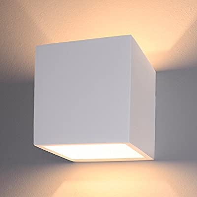 Led Rectangulaire En Up Lampe And Murale Plâtre Down RcAq3j54L