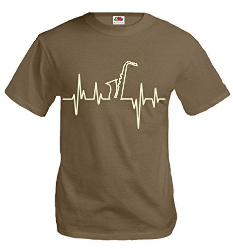 T-Shirt Musikfrequenz-Saxophon-M-Khaki-Beige