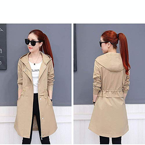 A Coupe Elégante Manches Fit vent Automne Blouson Casual Chic À Trench Manteau Coupe Femme Longues Capuchon Battercake Vent Slim Mode Fashion Outerwear Printemps FWB6OwAq
