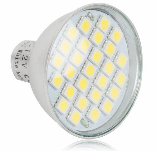 12 V MR16 LED Bombilla 6 W con 27 5050 SMD LEDs de luz blanca fría