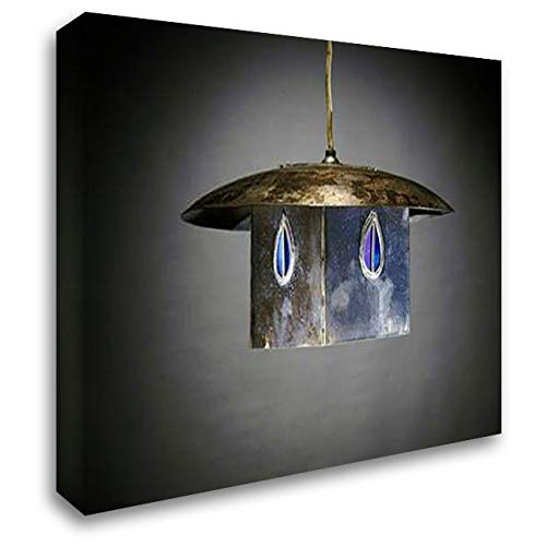 A Metal and Leaded Glass Hanging Shade 24x19 Gallery Wrapped Stretched Canvas Art by Mackintosh, Charles Rennie