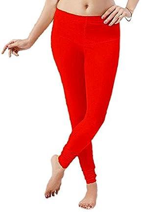421dfa5ca5f457 Florona Cotton Lycra Churidar Leggings (Red Colour): Amazon.in: Clothing &  Accessories