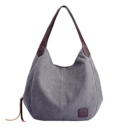 Shoulder Bags Women's Canvas Handbags Vintage Female Hobos Single Shoulder Bags Beach Bags ()