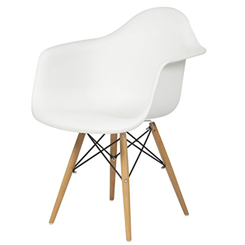 [Armchair Mid Century Modern Molded Plastic Shell Arm Chair] (Mounted Animal Head Costume)