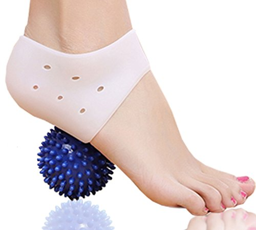 DR JK Comprehensive Plantar Fasciitis PedPal Kit, 5 pieces Plantar Fasciitis Sleeve, Massage Ball, Foot Arch Support, Foot massager, Heel Pads, Ankle Support, Relieve Foot Pain and Metatarsal Pain