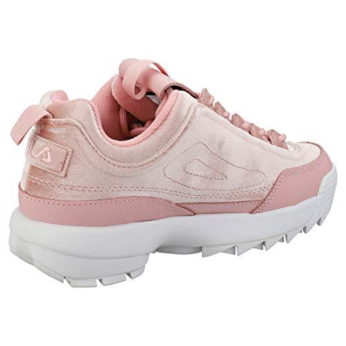 Velour Premium Disruptor Mujer Zapatillas Ii Rosa Fila EtAdqwA