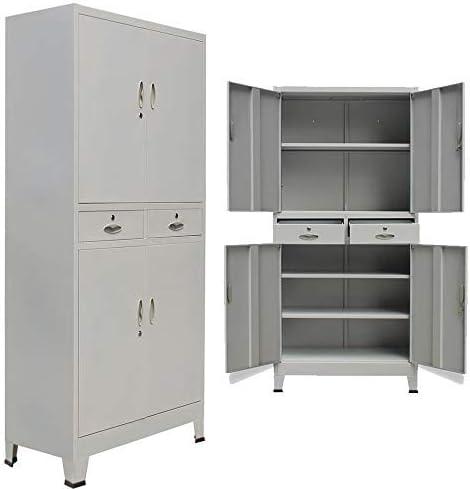 Amazon Com Zamax Steel Lockable Storage Cabinet For Garage