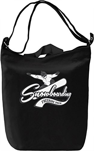 Snowboarding free ride Borsa Giornaliera Canvas Canvas Day Bag| 100% Premium Cotton Canvas| DTG Printing|