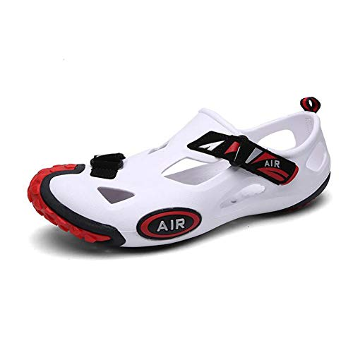 Ocasionales Hombres Los Antideslizante Transpirable De Zapatos Sandalias Fuga Agujero De Zapatillas White Agua De YWNC Playa Jardín De FxnIqAfww5